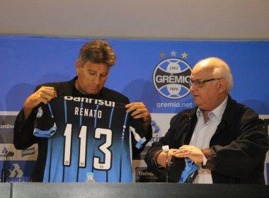 Renato Gaúcho é apresentado no Grêmio e visa a Copa do Brasil