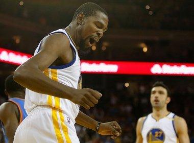 Contra sua ex-equipe, Durant ajuda Golden State a derrubar invencibilidade do Oklahoma