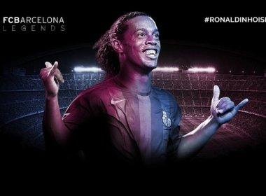 'Meus amigos, voltei': Barcelona anuncia Ronaldinho como embaixador do clube