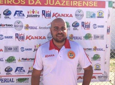 Após dois meses na Juazeirense, Éder Ferrari anuncia saída do clube