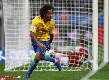 Após marcar, Marcelo elogia trabalho de Tite na seleção: 'A gente deve muito a ele'