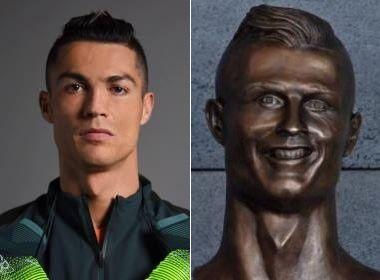 Busto de Cristiano Ronaldo em aeroporto da Madeira vira piada na internet