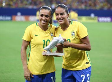 Gabi Nunes ganha Chuteira de Prata após vitória do Brasil em Manaus