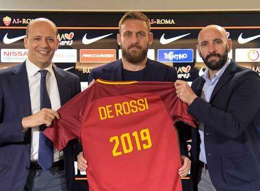 Novo capitão da Roma, volante De Rossi renova com clube até 2019