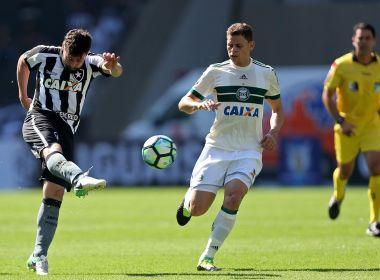 No jogo da manhã, Botafogo e Coritiba ficam no empate no Nilton Santos