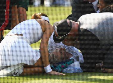 Após grave lesão, organização de Wimbledon rebate críticas sobre grama e atendimento