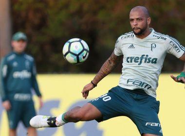 Thiago Santos desfalca o Palmeiras diante do Vitória; Felipe Melo deve substituí-lo