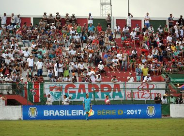 Fluminense de Feira e Juazeirense empatam no jogo de ida das oitavas da Série D