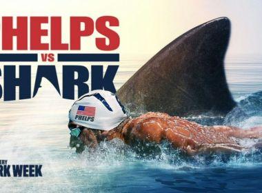 Em programa de TV, Michael Phelps é derrotado por tubarão