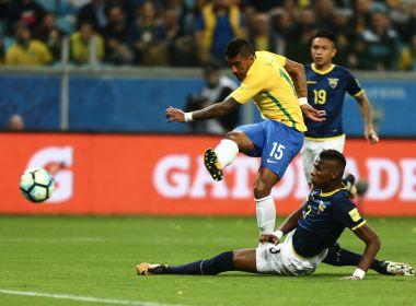 Brasil vence Equador e garante primeiro lugar nas Eliminatórias