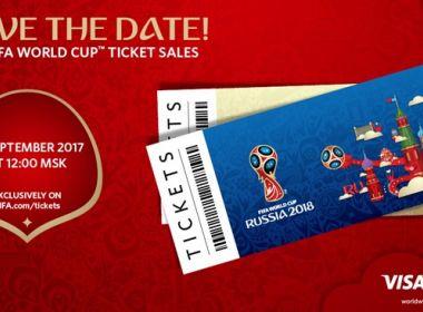Ingressos para a Copa do Mundo na Rússia começarão a ser vendidos nesta quinta-feira