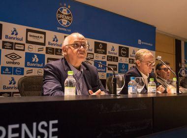 Presidente do Grêmio fala sobre polêmica com árbitro e pede desculpas a jornalista
