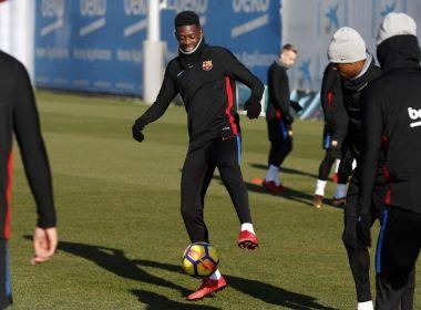 Dembelé volta a ser relacionado pelo Barcelona quatro meses após lesão na coxa