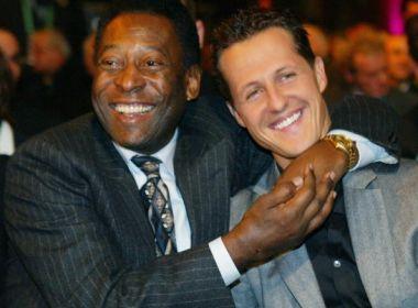 Pelé publica mensagem a Schumacher pelo aniversário: 'Continue lutando'