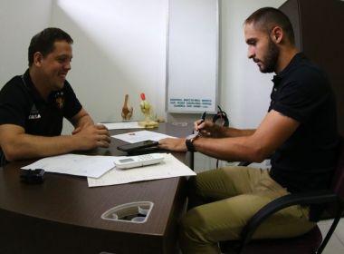 Régis se apresenta no CT do Sport e realiza exames médicos