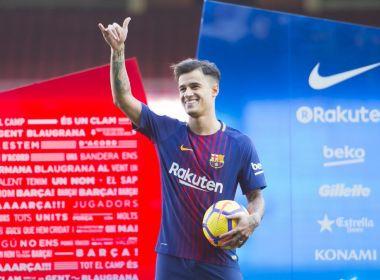 Philippe Coutinho é apresentado oficialmente no Barcelona e assina por cinco anos