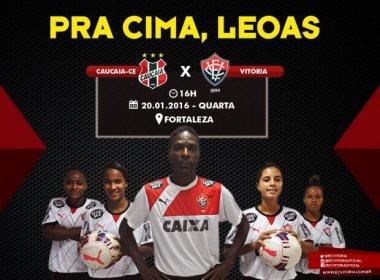 Time feminino do Vitória faz estreia no Brasileiro Feminino contra Cacucaia c5169d0896e24
