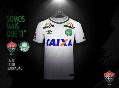Vitória jogará última partida do Brasileirão com o uniforme da Chapecoense