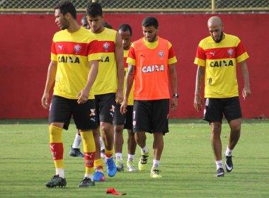 Sem Willian Farias, Vitória treina a parte técnica no Barradão