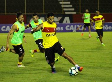 Tático e bola parada dão o tom em treino do Vitória antes do duelo contra o Paraná