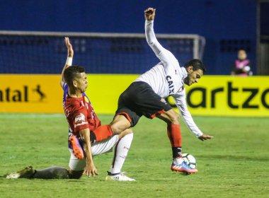 Vitória empata com o Paraná e dá adeus à Copa do Brasil