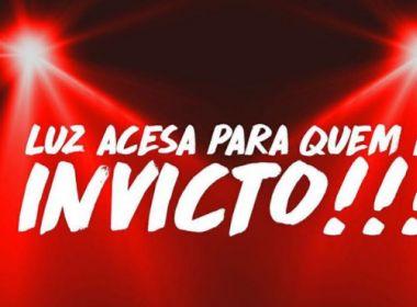 Vitória ironiza provocação da Arena: 'Luz acesa para quem é campeão invicto'