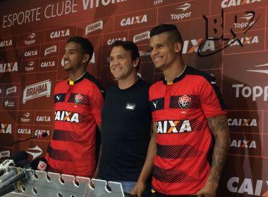 Todinho e Thallyson são apresentados oficialmente pelo Vitória