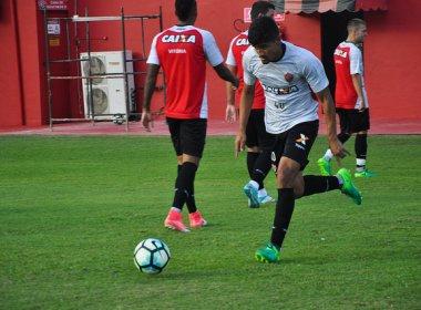 Vitória encerra preparação para encarar o Vasco com treino tático e rachão