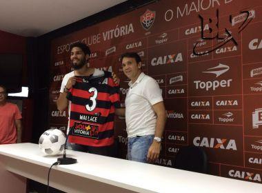 Wallace é apresentado e pede união do time: 'O Vitória vai voltar a ser forte'
