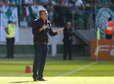 Gallo reconhece falhas no revés para o Palmeiras, mas diz que Vitória 'fez grande jogo'
