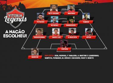 Vitória divulga maior time de todos os tempos do clube eleito pela torcida; confira