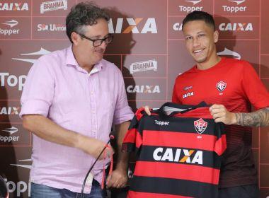 Na apresentação, Lucas Marques põe Copa do Nordeste como prioridade no Vitória