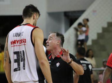 NBB: Após triunfo, técnico do Vitória cita motivação no intervalo como essencial