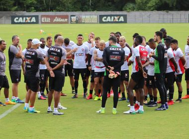 Vitória divulga a programação de treinos para os dois jogos desta semana
