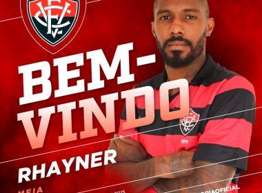 Aprovado nos exames médicos, Rhayner é oficializado pelo Vitória