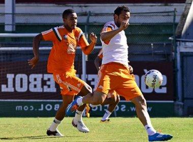 Com Diego Souza, Eduardo Baptista repete time do Fluminense em treino