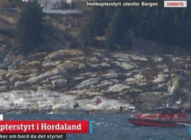Helicóptero explode, cai em região costeira da Noruega e mata 14 pessoas