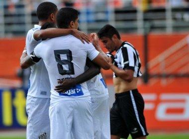 80bd7fe193 Santos volta a vencer e empurra Botafogo para a lanterna do Brasileiro