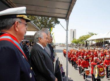 PM estima que 2,7 mil pessoas participaram de ato contra Temer em Brasília