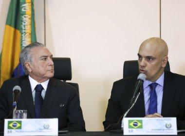 Ministro da Justiça se reuniu com Temer para explicar ação policial no Senado