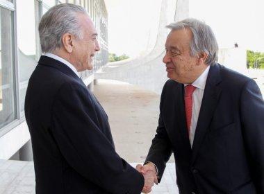 Secretário da ONU destacou respeito aos direitos humanos no Brasil, diz Planalto