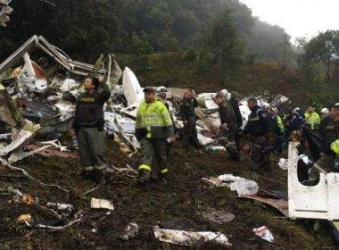 Avião da LaMia caiu por falta de combustível, conclui Aeronáutica da Colômbia