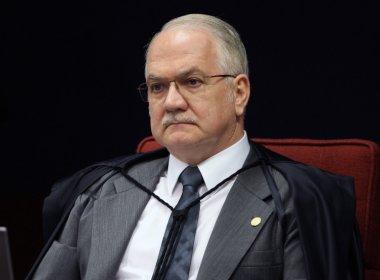 Fachin nega à PGR pedido de afastamento de Renan Calheiros
