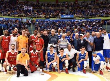 Com Ibirapuera lotado, NBB Mundo derrota time brasileiro no Jogo das Estrelas