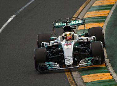 Hamilton mantém Mercedes na frente e larga na pole na Austrália; Massa é o 7º