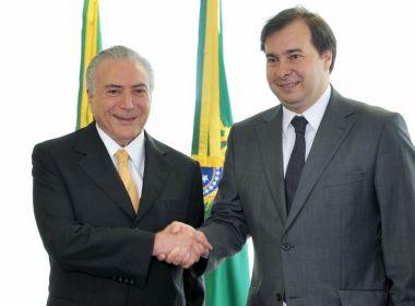 Por Previdência, Temer faz reunião com aliados na residência de Rodrigo Maia