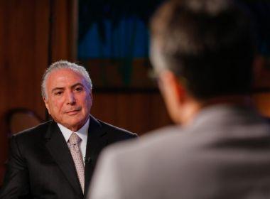 Temer descarta risco de perder mandato em ação que investiga chapa com Dilma
