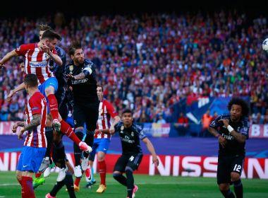 Atlético de Madrid surpreende e até sonha no 1º tempo, mas Real vai à final