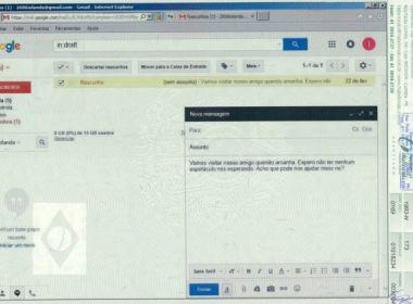Monica Moura entrega imagem com suposto e-mail secreto de Dilma Rousseff