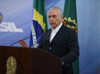 Discurso de Temer foi tentativa de diminuir pressão pública, avaliam DEM e PSDB